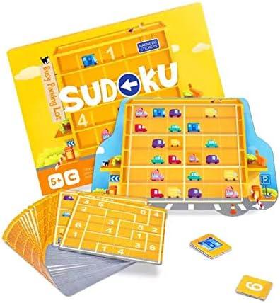 KingMade Magnetic Sudoku Game - Busy Parking Lot (5+ yo) Board Games for Kids 4-6