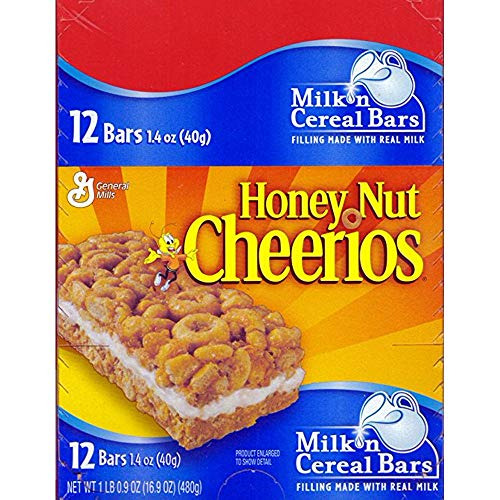 - General Mills Honey Nut Cheerios Cereal Bar, 12 Count (GRANOLA/CEREAL/OAT/BRKFAST BAR)