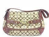 Coach Ergo Signature belt flap Hobo handbag