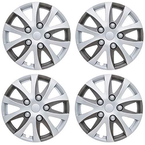 UKB4C Set of 4 Wheel Trims//Hub Caps 15 Covers fits Ford Fiesta Focus KA Figo