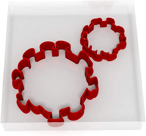 Virus - Juego de 2 cortadores de fondant (5 cm + 8 cm): Amazon.es: Hogar