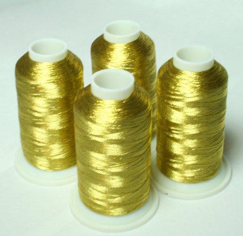 NEW ThreadNanny 4 ANTIQUE GOLD METALLIC MACHINE EMBROIDERY THREAD (Metallic Thread Cone)