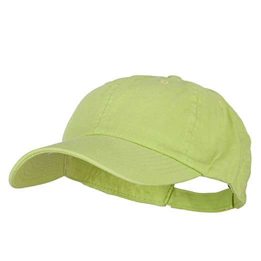 649efa9d3025d MG Low Profile Dyed Cotton Twill Cap - Apple Green OSFM at Amazon ...