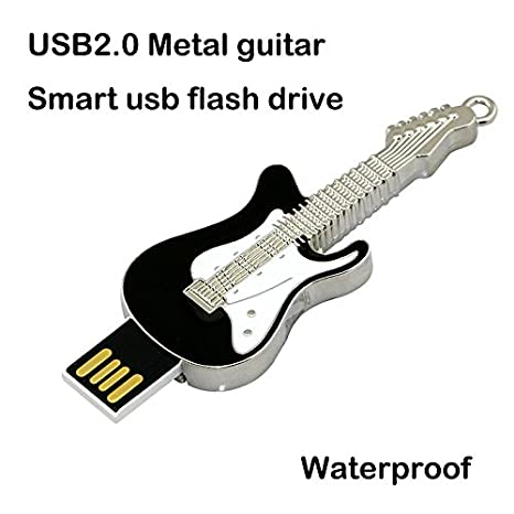 Civetman 16GB Negro Guitarra Eléctrica Pendrive Instrumentos Musicales Crystal USB Flash Drive Memory Stick: Amazon.es: Electrónica
