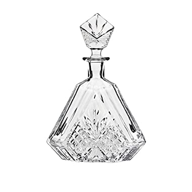 Godinger Silver Art Dublin Triangular Crystal Decanter - Decanter