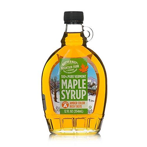 Butternut Mountain Grade 'A' Amber 12 Oz Glass Jug Vermont Maple Syrup