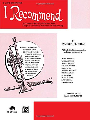 I Recommend: E-flat Alto Saxophone - Alto Saxophone Scales