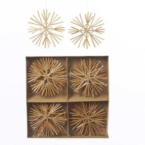 Kurt Adler 16-Piece Straw Ornament, 3.5-Inch
