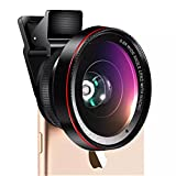 Cell Phone Camera Lens - 2 in 1 Professional HD Camera Lens Kit 0.6X Super Wide Angle & 15X Macro Lens for iPhone7 6s 6s plus 6 plus 5s & Most Smartphone, Tablet