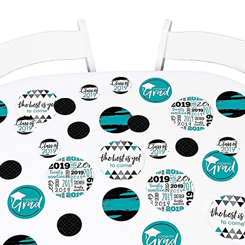 Teal Grad - Best is Yet to Come - 2019 Graduation Party Giant Circle Confetti - Turquoise Grad Party Decorations - Large Confetti 27 Count]()