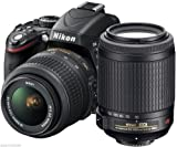 Nikon D3200 24.2 MP CMOS Digital SLR with 18-55mm VR and 55-200mm Non-VR DX Zoom Lenses