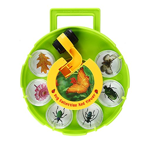 SainSmart Jr. Bug Collection and Viewer Field Microscope, Rotating Disc Magnifier, Cartoon Amplification Experiment Tool, Six Cups