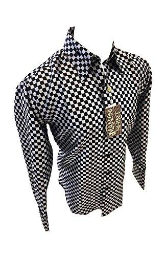 Checkerboard Print Dress - 3