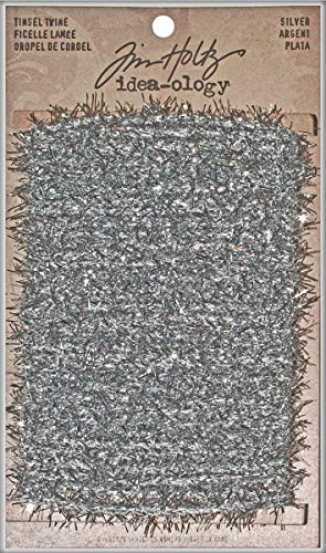 (Tinsel Twine by Tim Holtz Idea-ology, 6 Yards, Polyester, Silver, TH93025)
