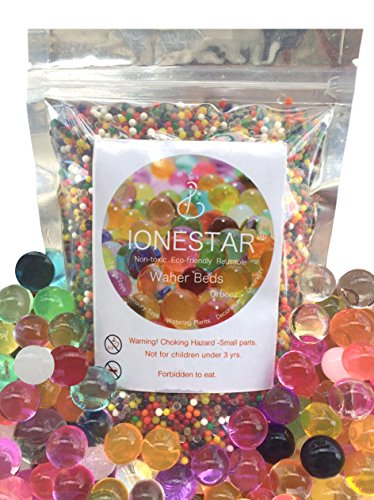 IoneStar Water Beads Non-Toxic Large 8.8oz(22000 beads) Rainbow Mix Bulk for Kids Sensory Toys, Orbeez Ultimate Soothing Foot Spa, Decoration Refill Vase or Gun, Plants Homder, Colorful Crystal Soil