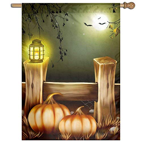 (Girdsunp Garden Yard Flag Halloween Night Paint Lawn Banner Yard Home Flag Wall Outdoor Decor Flag 27 X 37)