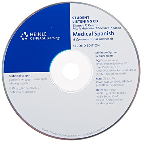 Audio CD for Medical Spanish: A Conversational Approach, 2nd