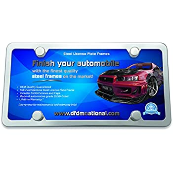 Gardening Supplies Humor 4 Hole Stainless Steel Automotive License Plate Frame W/ Mirror Buffed Finish