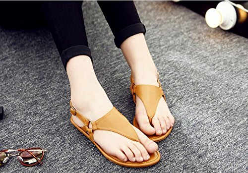 The new female flat sandals non - slip leisure beach Ding word shoes 0jXFp
