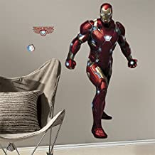 RoomMates Iron Man Civil War Peel and Stick Giant Wall Decals