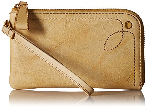 FRYE Campus Rivet Leather Purse Wristlet, Banana by FRYE