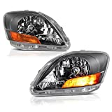2007 toyota headlight covers - VIPMotoZ 2007-2011 Toyota Yaris Sedan Headlights - [Factory Style] - Metallic Chrome Housing, Driver and Passenger Side