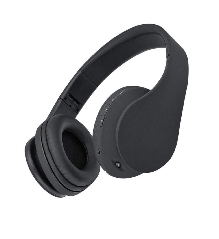 Dartphew Bluetoothヘッドセット ステレオ内蔵マイク 折りたたみ式 ワイヤレス 有線ヘッドセット Bluetoothヘッドフォン ステレオワイヤレスヘッドセット 折りたたみ式 ソフトイヤーマフ 内蔵マイク 有線モード PC/携帯電話 ブラック 1561651865 B07Q4WV486 ブラック