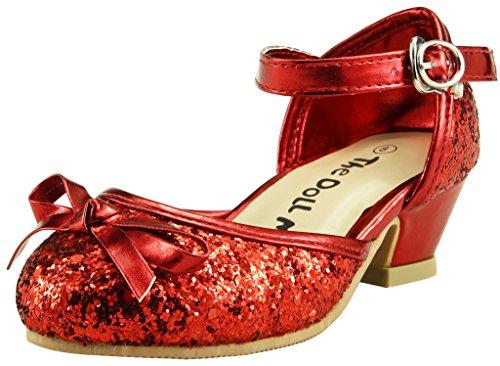 Red Glitter Toddler Shoes (The Doll Maker Glitter Pump - FBA173038C-9)