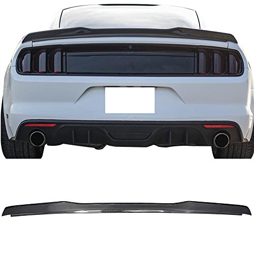 - Trunk Spoiler Fits 2015-2019 Ford Mustang All Models | High Kick V Style Rear Spoiler Wing Tail Lid Finnisher Deck Lip by IKONMOTORSPORTS | 2016 2017