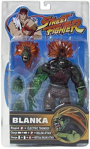 (Street Fighter Round 2 Limited Edition Player 2 Blanka Action Figure (Translucent Green Variant))