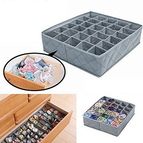 HOMEDECO Foldable Underwear Ties Socks Drawer Closet Organizers Dividers Storage 30 Cell