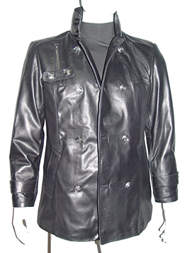 Nettailor 2039 Fine Leather Pea Coat Fashion for Men Large Size All Size by NETTAILOR (Image #6)