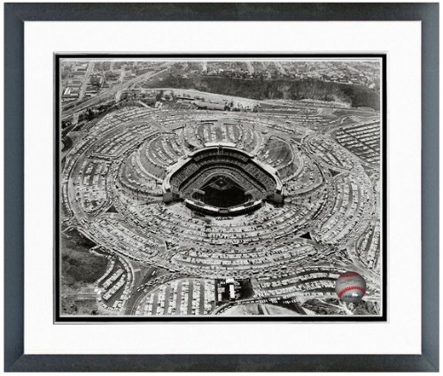 "Los Angeles Dodgers 1962 Opening Day Stadium Photo 12.5"" x 15.5"" Framed"