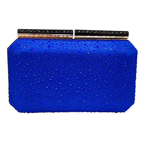 La Transversal Color Azul Banquete Sección Bolsa Noche color Cena Bolso Del Uiophjkl Caliente Sólido De Cadena Perforación Cuadrado Naranja EOxW10OqnU