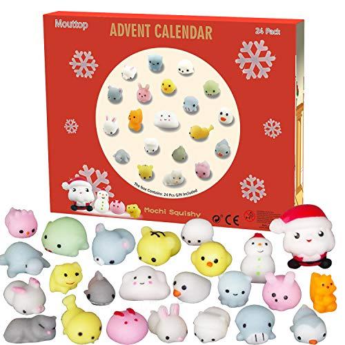 [해외]Manaror Advent Calendar 2019 Christmas Countdown Calendar 24Pcs Mochi Squishy Animals Including Santa Non-Toxic Relief Stress Surprise Every Day for Kids and Adults (Non-Toxic) / Manaror Advent Calendar 2019 Christmas Countdown Cal...