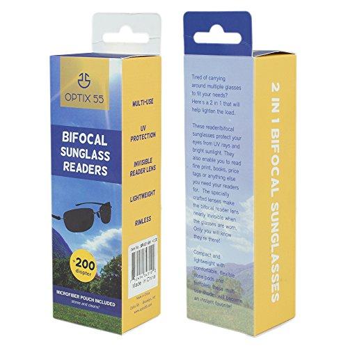 7e7672d28c Rimless Bifocal Reading Sunglasses - Lightweight