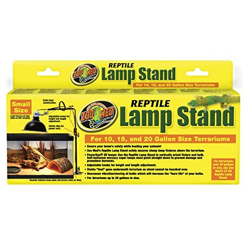"Zoo Med Reptile Lamp Stand; Smaller Size up to 24"" tall, for 10-20 gallon vivarium (Reptile Stand Lamp)"