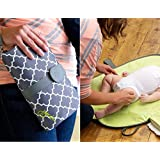 Babies Bloom Black/Brown Waterproof Portable Baby Changing Station - Mommy Clutch