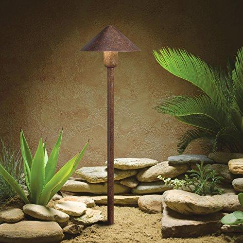 Kichler Lighting 15839TZT 12-volt  Fundamentals LED Landscape Path Light, Textured Tannery Bronze Finish - Textured Tannery Bronze Finish