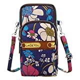OTTATAT Women Men Nylon Shoulder Bag Multicolor Floral Prints Students Outdoor Sports Arm Bag Phone Bag Waist Bag Leopard Spot Pattern Soft Comfort Exquisite Small Easy to Carry Go to School Essential: more info
