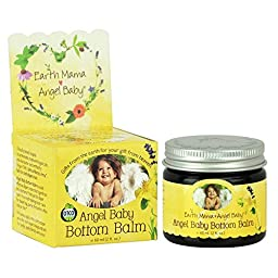 Earth Mama Angel Baby, Bottom Balm (Pack of 2), 2 oz