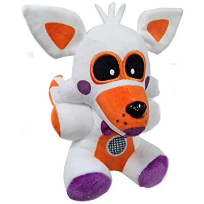 20cm FNAF Five Nights at Freddy's Sister Location Funtime Fox Foxy Plush Toys Soft Stuffed Animals Toys Doll Gifts for Children White: Clothing