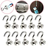 10pcs Heavy Duty 16mm Magnetic Ferrite Hooks with Strong Powerful Neodymium Hook