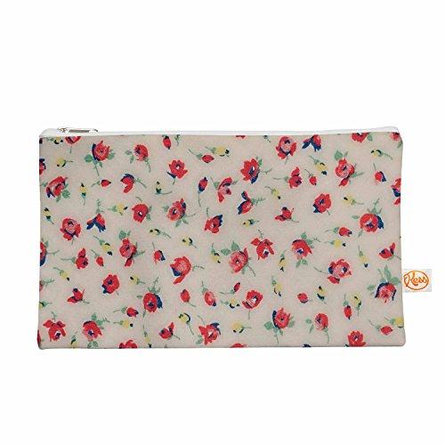 Kess eigene 12,5x 21,6cm Robin Dickinson Vintage Flower Love Alles Tasche–Rot/Pink