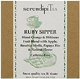 SerendipiTea Ruby Sipper, Blood Orange, Hibiscus & Tisane Tea, 4-Ounce Box For Sale