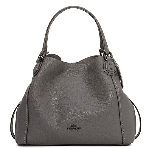 45273ac81820 Coach Edie Pebbel Leather Shoulder Bag In Charcoal - Buy Online in KSA.  Clothing products in Saudi Arabia. See Prices