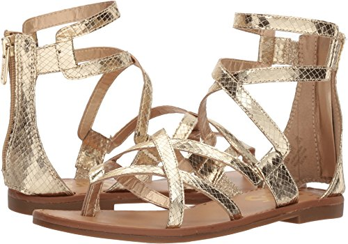 Circus by Sam Edelman Women's Bevin Flat Sandal, Light Gold, 6 M US - Light Gold Sandals