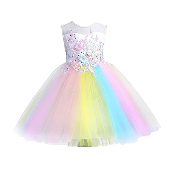Flower Girl Princess Dress Kids Baby Party Pageant Birthday Tutu Dresses Clothes