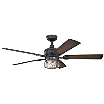 Amazon kichler 310140dbk 60 inch lyndon patio ceiling fan 3 kichler 310140dbk 60 inch lyndon patio ceiling fan 3 speed wall control ltd function mozeypictures Images