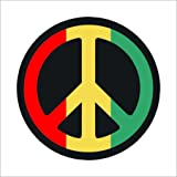 ISEE 360 Peace Sticker for Cars and Bikes (Red Yellow Green, Medium)